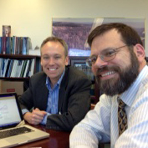 Drew Jones with Jonathan Pershing, lead US State Department climate negotiator